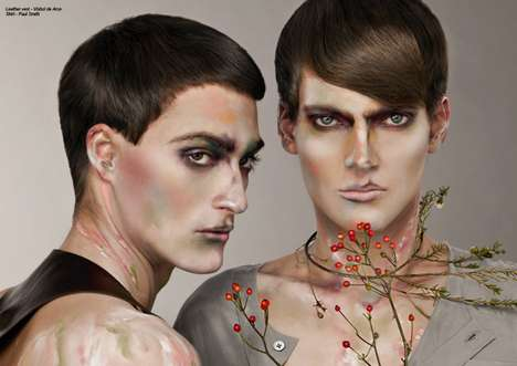 Gender-Bending Makeup Canvases - Oriental Spirit in Factice Channels Chinese Culture