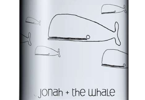 Illustrated Fish Branding - Jonah and the Whale Vodka Packaging has a Childish Charm