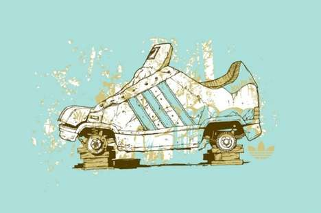 Street Art Shoe Branding - Adam Haynes Brings Fantastical Urban Illustrations to Sneakers