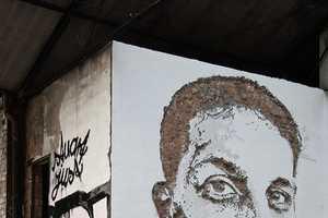 Portugese Street Artist VHILS Provides Encouragement and Excitement