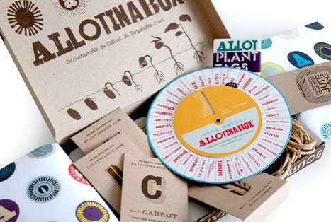 Personal Botanical Packaging - The 'ilovedust' Team Creates the Ultimate Design for Allotinabox