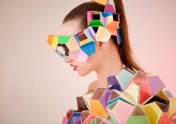 Kaleidoscopic Origami Fashions