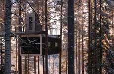 Tree-Hugging Houses - This Cabin by Cyren & Cyren Takes Tree Houses to New Heights in Sweden