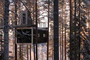 This Cabin by Cyren & Cyren Takes Tree Houses to New Heights in Sweden
