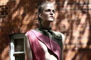 Pelayo Diaz's First Collection Mixes Sherbet Pink & Hints of Khaki