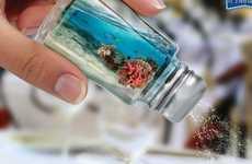 Aquatic Herb Ads - These Sal Sol Prints Ads Showcase Under the Sea Salt