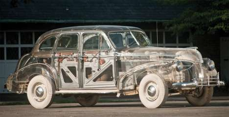 Vintage Skeletal Vehicles - The '39 Ghost Pontiac Displays the Bare Bones of Mechanics