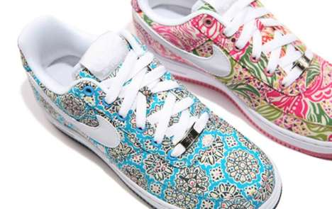Nike and Liberty Air Force 1