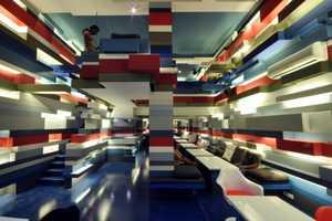 The Mocha Mojo Coffeehouse Looks Like a Playful LEGO Land