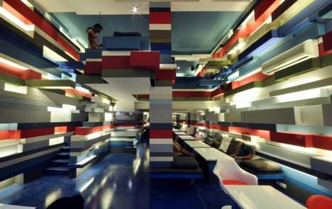 Colorfully Layered Cafes - The Mocha Mojo Coffeehouse Looks Like a Playful LEGO Land