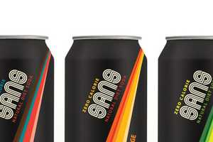 The SANS Natural Diet Soda is All Natural & Brilliantly Branded