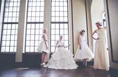 Whimsical Wedding Gowns - The Veronica Sheaffer Fall Collection is Sweetly Modern