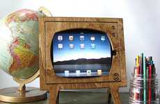 This Natural Wood iPad Dock from Miterbox Brings You Back to the Day