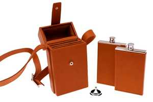 The Ettinger Double Flask Case is Both Sturdy and Elegant