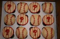 Baseball-Themed Baked Goodies - Phillies Cupcakes by A Cupcake Wonderland Are for Diehard Fans