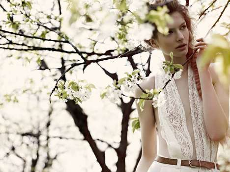Angelic Outdoor Editorials - Impossible Princess in Take Me Magazine #11 Shows Effortless Beauty