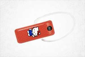 The Hello Kitty Bluetooth Headset Takes Your Calls with the Cute Cat