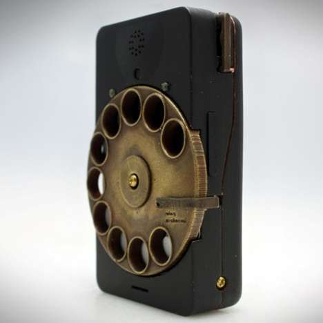 Retrofied Mobiles - The Rotary Mechanical Smartphone Takes Your Cellphone Back to the 60s