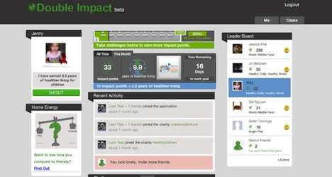 Charitable Social Media Games - Double Impact Rewards You for Eco-Friendly Living