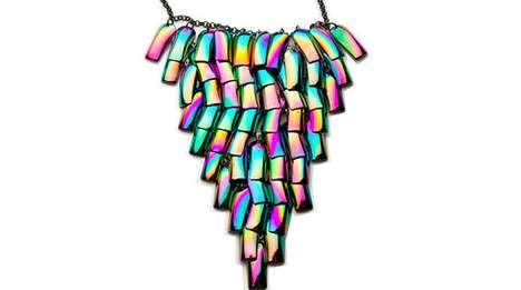 Fluorescent Fake Nail Necklaces - The Cheap Monday Nail Jewelry Uses Familiar Finger Finds
