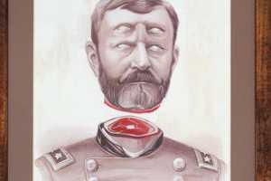 Merve Morkoc Memorial Portraits Feature Morbid Illustrations