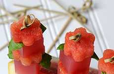 These Watermelon Basil Martini Jelly Shots are Delish