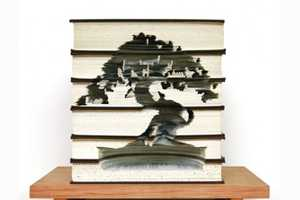 These Kylie Stillman Book Carvings Cut New Life into Old Novels