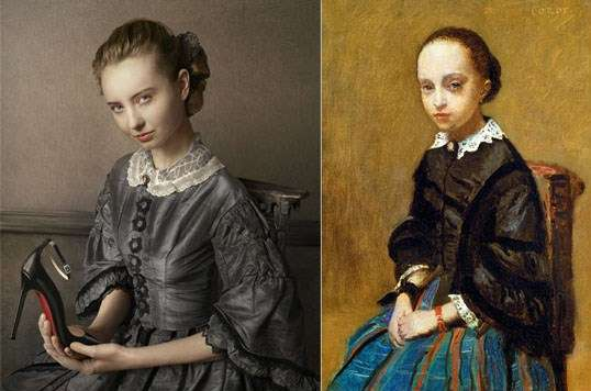 Modernized models inspired from originals paintings