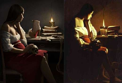 Modernized models inspired from originals paintings 2