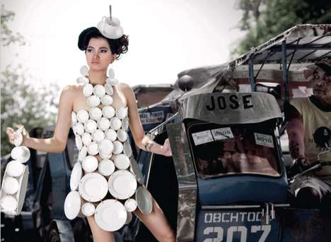 Dinner Plate Dress Campaigns - Joy Dishwashing Liquid Ads Equate Other Brands to Laundry Soap