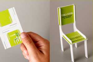 This Tok & Stok Business Card Constructs a Model Chair