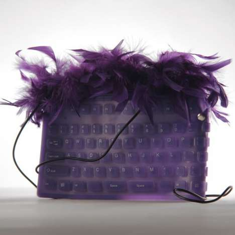 Funky Eco-Chic Bags - These Chiara Catalano Keyboard Bags are Adorably Furry