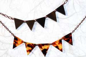 The 'Carnival Bunting Pennant OOAK Necklace' is a Touch of Summer