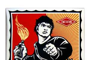 The Shepard Fairey 'Playing Field' Exhibition Challenges Culture