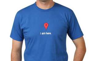 The Google Map T-Shirt Lets Others See You are Here