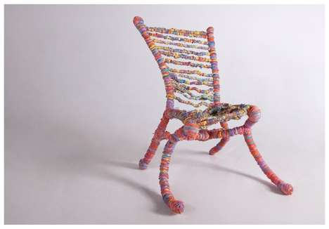 Eccentric Elastic Seating - The Rubberband Chair Has a Bit of a Bounce