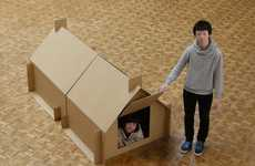 Simple Pop-Up Shelters - Atelier OPA Creates Simple Cardboard Havens That Takes Seconds to Make
