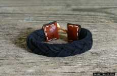 Barrett Alley's Antique Fabric Bracelets Use 100-Year-Old Materials