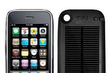 Solar Panel Smartphone Chargers - Sol Solar iPhone 4 Battery Case Harnesses Energy From the Sun