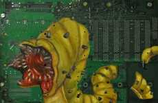 Monstrous Motherboard Art