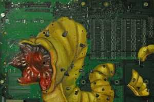 Joe Dragt Paints Stunning Images Onto Old Circuit Boards
