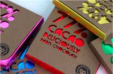 Colorful Cutout Candy Branding - Cacao Monkey Packaging is Delectably Designed