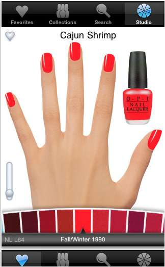 Virtual Varnish Applicators - The OPI Phone App Lets You Test Out New Nail Polish Tones