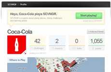 Soda Scavenger Hunts - Coca-Cola and SCVNGR's Interactive Happiness in Numbers Game is for Friends