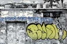 Legal Aid Graffiti Prints - Mr. Brainwash 'Never Give Up' Donates to Jailed Artist REVOK