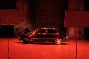 Hajnal Nemet Creates a Unique Art Exhibit That Totals a BMW