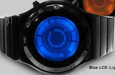 Illuminated Hybrid Timepieces - The 'Kisai SR2 Rogue' by Tokyoflash Features LCD and LED Technology