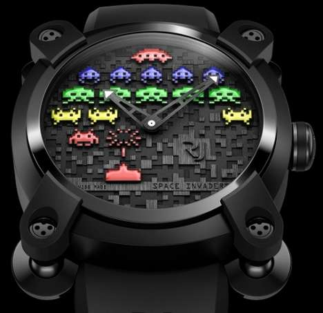 Luxury Gamer Watches - The Romain Jerome Space Invaders Collection is for Wealthy Geeks