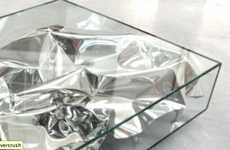 Twinkling Toting Tables - The Fredrikson Stallard Silver Crush Table is Glamorous