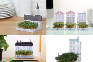 Matchcarden Cultivates Tiny Gardens in Miniature Townhouses